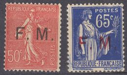 FRANCE - Franchigia Militare - Lotto Composto Da 2 Valori Nuovi: Yvert 6 MH E 8 MNH. - Franchigia Militare (francobolli)
