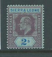 Sierra Leone 1907 KEVII New Colours 2 Shilling Mint - Sierra Leone (...-1960)