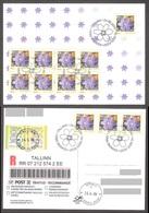 Flower Estonia 2006 12 Stamps Liverleaf Mi 558 Maxiard REGISTERED - Estonie