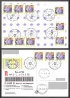 Flower Estonia 2006 12 Stamps Liverleaf Mi 558 Maxiard REGISTERED - Autres