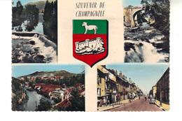 CPSM -  Souvenir Ce Champagnole  - Carte  4 Vues. - Champagnole