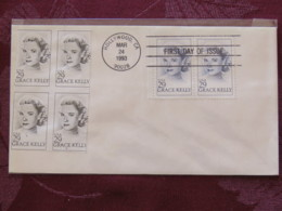 USA 1993 FDC Cover Hollywood - Cinema Movie - Grace Kelly - Lettres & Documents
