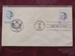 USA 1993 FDC Cover Hollywood And Monaco Joint Issue - Cinema Movie - Grace Kelly - Lettres & Documents