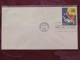 USA 1993 FDC Cover Washington - Circus - Trapeze Artist - Lettres & Documents