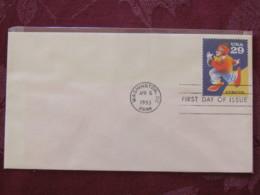 USA 1993 FDC Cover Washington - Circus - Clown - Lettres & Documents