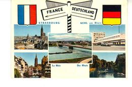 CPM -   Carte  France - Deutschland.  (5 Vues) - Strasbourg