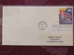 USA 1993 FDC Cover Washington - Circus - Elephant - Lettres & Documents