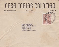 CASA TOBIAS COLOMBO- ENVELOPPE CIRCULEE RAFAELA TO BUENOS AIRES, ARGENTINE 1954  - BLEUP - Argentinien