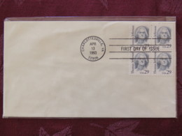 USA 1993 FDC Cover Charlottesville - Thomas Jefferson - Lettres & Documents