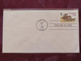 USA 1993 FDC Cover Enid - Cherokee Strip Land Run - Horses - Horse Wagon - Lettres & Documents