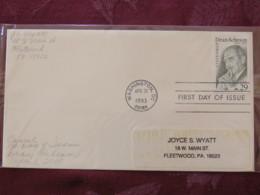 USA 1993 FDC Cover Washington - Dean Acheson - Lettres & Documents