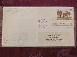 USA 1993 FDC Cover Louisville - Sporting Horses - Racing - Lettres & Documents