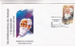 DIA INTERNACIONAL DEL TRABAJO-FDC 1993 CHILE - BLEUP - Chili