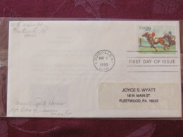 USA 1993 FDC Cover Louisville - Sporting Horses - Polo - Lettres & Documents