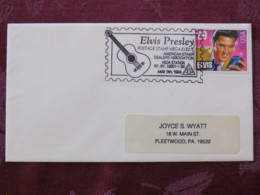 USA 1993 Special Cover Asda Station New York - Rock & Roll Music - Elvis Presley - Guitar - Lettres & Documents