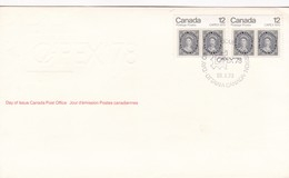 CAPEX 78 FDC CANADA YEAR 1978 - BLEUP - Premiers Jours (FDC)