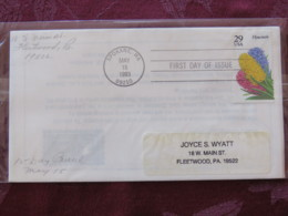 USA 1993 FDC Cover Spokane - Flowers - Hyacinth - Lettres & Documents
