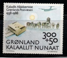 N887.-. GREENLAND - 1988. MINT - PLANE AND DOGS - Groenland