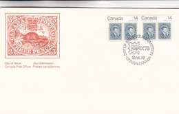 CANADA POSTAGE TRHEE PENCE, CAPEX 78 FDC OTTAWA YEAR 1978 - BLEUP - Premiers Jours (FDC)