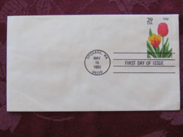 USA 1993 FDC Cover Spokane - Flowers - Tulip - Lettres & Documents