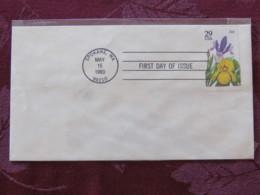 USA 1993 FDC Cover Spokane - Flowers - Iris - Lettres & Documents
