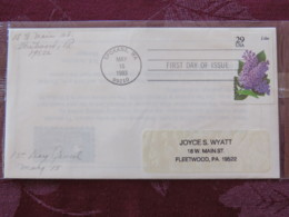 USA 1993 FDC Cover Spokane - Flowers - Lilac - Lettres & Documents