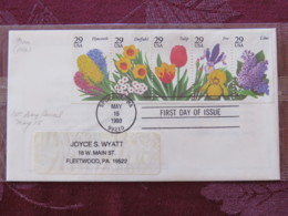 USA 1993 FDC Cover Spokane - Flowers - Booklet Pane - Lettres & Documents