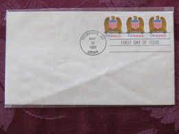 USA 1993 FDC Cover Secaucus - Eagle Bulk Rate (coil) - Lettres & Documents