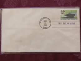 USA 1993 FDC Cover Washington - World War II Events 1943 - Italy Invaded By Allies - Boat - Lettres & Documents