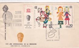COLABORE CON EL AÑO INTERNACIONAL DE LA EDUCACION, UNESCO-FDC 1970 URUGUAY - BLEUP - Uruguay