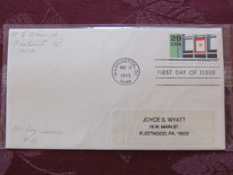 USA 1993 FDC Cover Washington - World War II Events 1943 - Gold Stars Marks World War II Losses - Lettres & Documents