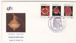 FLORA DE COSTA RICA-FDC 1989 SAN JOSE - BLEUP - Costa Rica