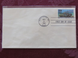 USA 1993 FDC Cover Washington - World War II Events 1943 - Sicily Attacked Bu Allied Forces - Ship - Boat - Lettres & Documents