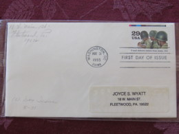 USA 1993 FDC Cover Washington - World War II Events 1943 - V-mail Delivers Letters From Home - Lettres & Documents