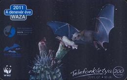 2010 YEAR OF THE BAT ANIMAL CACTUS FLOWER PLANT WAZA WORLD ASSOCIATION ZOO AND AQUARIUMS WWF PANDA MMK 305 Teli Hungary - Hongrie