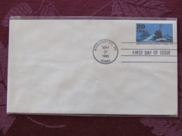 USA 1993 FDC Cover Washington - World War II Events 1943 - Allied Forces Battle German U-boats - Lettres & Documents