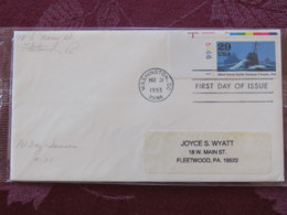 USA 1993 FDC Cover Washington - World War II Events 1943 - Allied Forces Battle German U-boats - Plate Nummer - Lettres & Documents