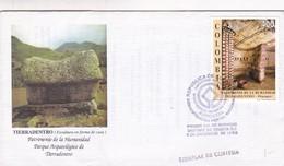 TIERRADENTRO (ESCULTURA EN FORMA DE CASA), PATRIMONIO DE LA HUMANIDAD, PARQUE ARQUEOLOGICO-FDC 1996 BOGOTA - BLEUP - Kolumbien