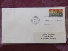 "USA 1993 FDC Cover Washington - World War II Events 1943 - ""Willie And Joe"" Keep Spirits High - Lettres & Documents"