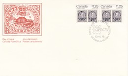 CANADA POSTAGE THREE PENCE FDC OTTAWA 1978 - BLEUP - Premiers Jours (FDC)