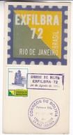 EXFILBRA RIO DE JANEIRO BRASIL FDC 1972 CARD - BLEUP - FDC