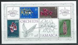 "Jamaica     ""Orchids""     Souvenir Sheet   SC# 378a    MNH - Orchids"