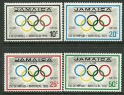 """Jamaica      """"Olumpic Games Montreal""""     Set      SC# 410-13     MNH - Jamaica (1962-...)"""