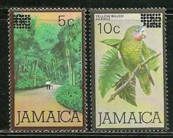 """Jamaica      """"Surcharged """"     Set    SC# 581-82     MNH - Jamaica (1962-...)"""