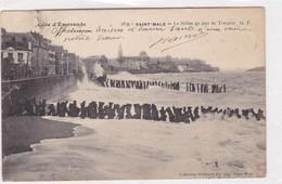 COTE D'EMERAUDE, SAINT MALO. LE SILLON UN JOUR DE TEMPETE. GERMAIN FILS - BLEUP - Saint Malo