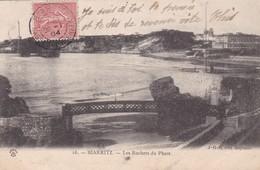 BIARRITZ. LES ROCHERS DU PHARE. HHB EDIT. CIRCULEE 1904 A ST PIERRE DE MIQUELON - BLEUP - Biarritz