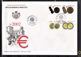 MONACO 2002 FDC GF / N° 2356 A 2359 - FDC