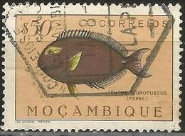 MOZAMBIQUE 1951 - Mi. 391 O, Dusky Surgeonfish (Teuthis Nigrofuscus) | Animals (Fauna) | Fishes | Sea Life - Mozambique