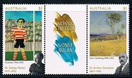 AUSTRALIA • 2017 • Arthur Streeton And Sidney Nolan - Gutter Pair • MNH (2) - Mint Stamps