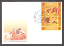 Estonia 2006 Horses Sheet FDC Tallinn Mi BL 27 - Estonie